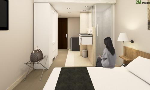 Proyecto Básico y Ejecución de Acondicionamiento de Hotel en Barajas, Madrid.