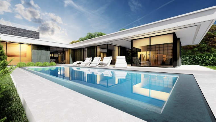 Viviendas de lujo con piscina