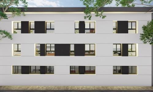 Promocion residencial ZOE 23 fachada trasera scaled