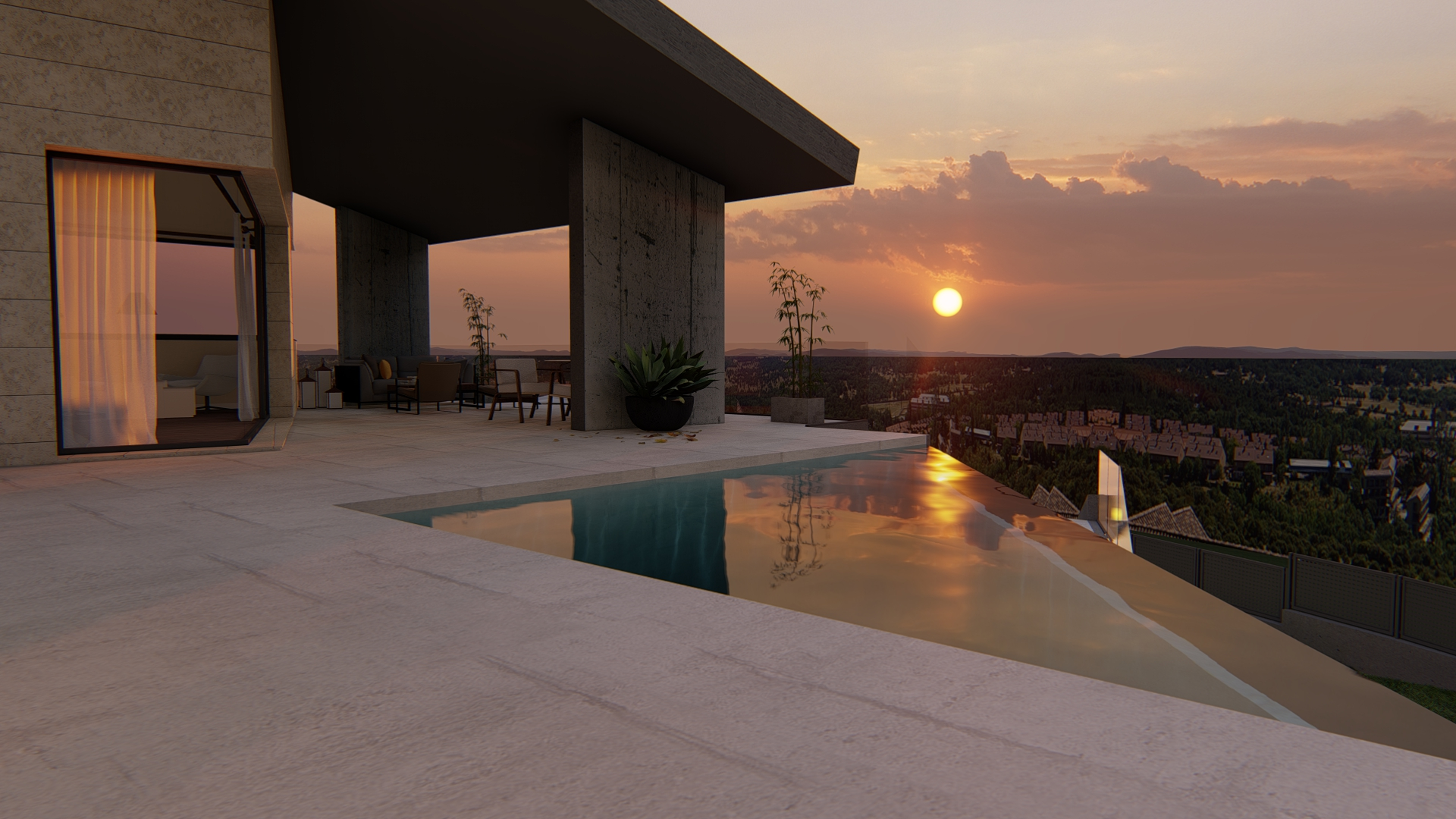 Exterior piscina 2_vivienda unifamiliar de lujo