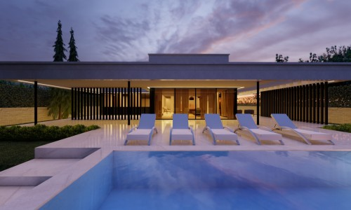 Residencial Tobalina 11 Piscina noche scaled