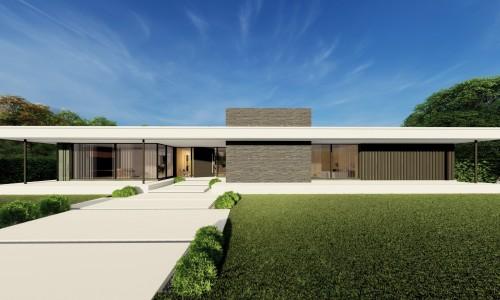 Las lomas hills 6 entrada principal proyecto de 2m arquitectos