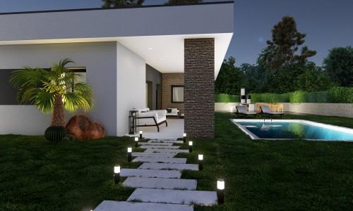 Vivienda unifamiliar aislada con piscina en Villalbilla Entrada