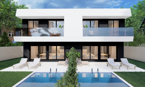 Viviendas unifamiliares pareadas con piscina en villaiviciosa de odon 5