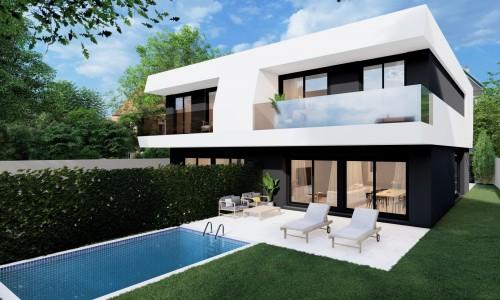Viviendas unifamiliares pareadas con piscina en villaiviciosa de odon