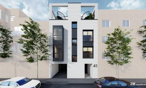 Edificio de 6 viviendas en calle olvido 3