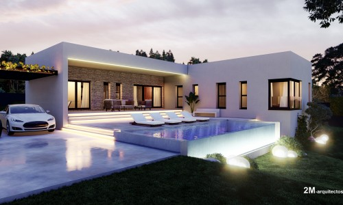 vivienda unifamiliar aislada con piscina en BUEU pontevedra 1 1