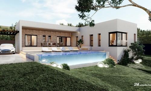 vivienda unifamiliar aislada con piscina en BUEU pontevedra 2 1