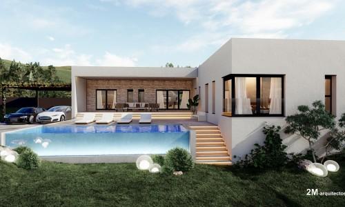 vivienda unifamiliar aislada con piscina en BUEU pontevedra 3 1
